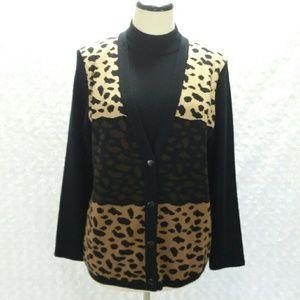 VTG 90s Petite Animal Print Sweater & Cardigan